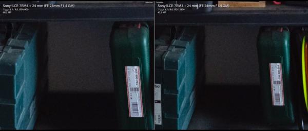 Comparaison ISO avec Sony A7RIII