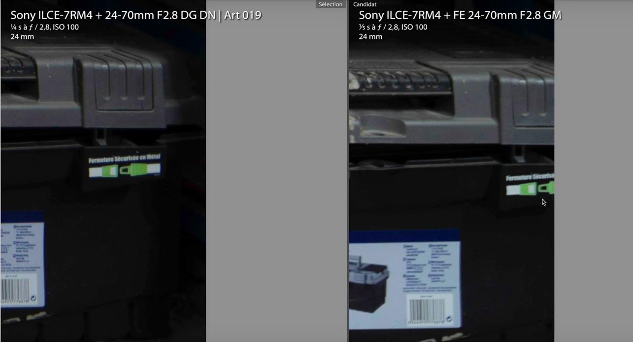 Comparaison avec le Sony FE 24-70 GM