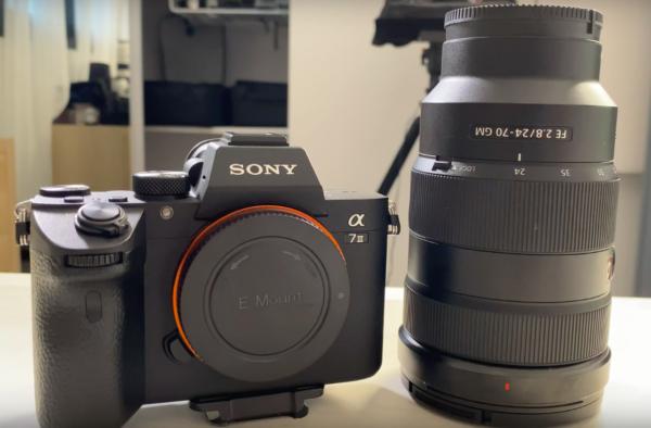 Objectif Sony FE 24-70mm GM avec le A7III