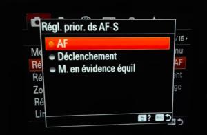 Tuto réglage priorité AF-S ou AF-C