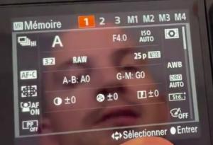 Configurer la molette 1 2 3 Sony