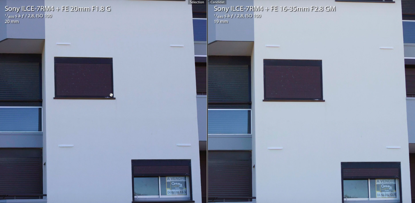 Différences avec le zoom 16-35mm Sony