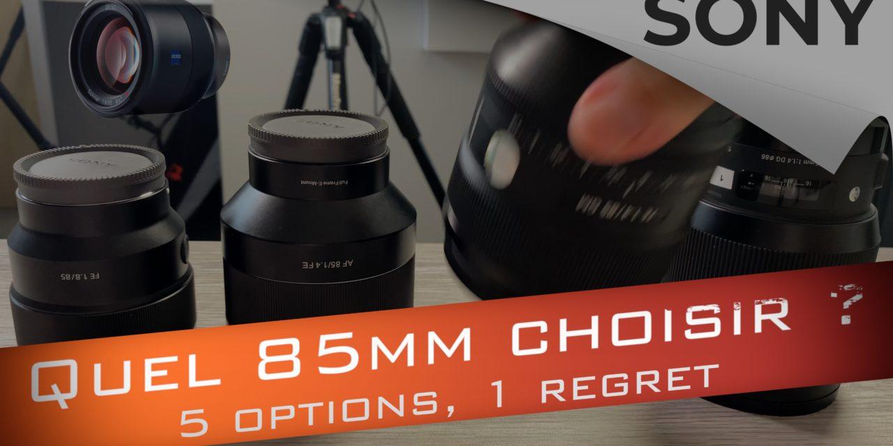 Comparatif des objectifs 85 mm Sony : Lequel choisir ?
