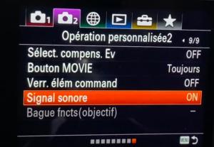 Enlever son sur un hybride Sony