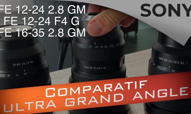Comparatif Sony Ultra grand angle : FE 12-24 f2.8 GM vs FE 12-24 f4 G vs FE 16-35 f2.8 GM