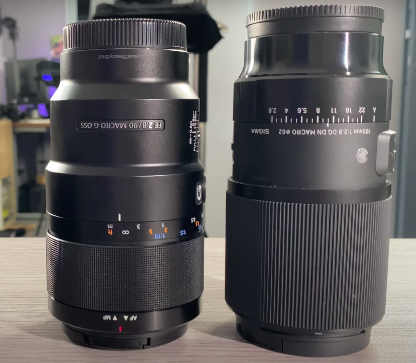 Comparatif Sigma 105mm 2.8 vs Sony 90mm 2.8