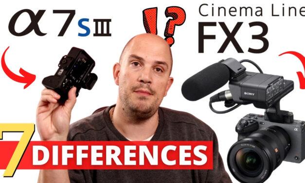 Comparatif Sony FX3 vs A7s III : Quelles différences ?