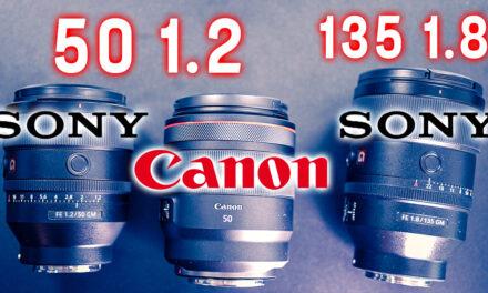Comparatif Sony 50 mm f1.2 GM vs 135mm f1.8 vs Canon